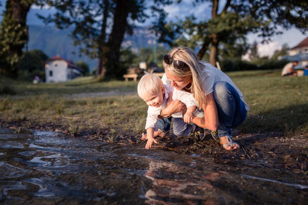 A la découverte de l'eau séance photo famille
