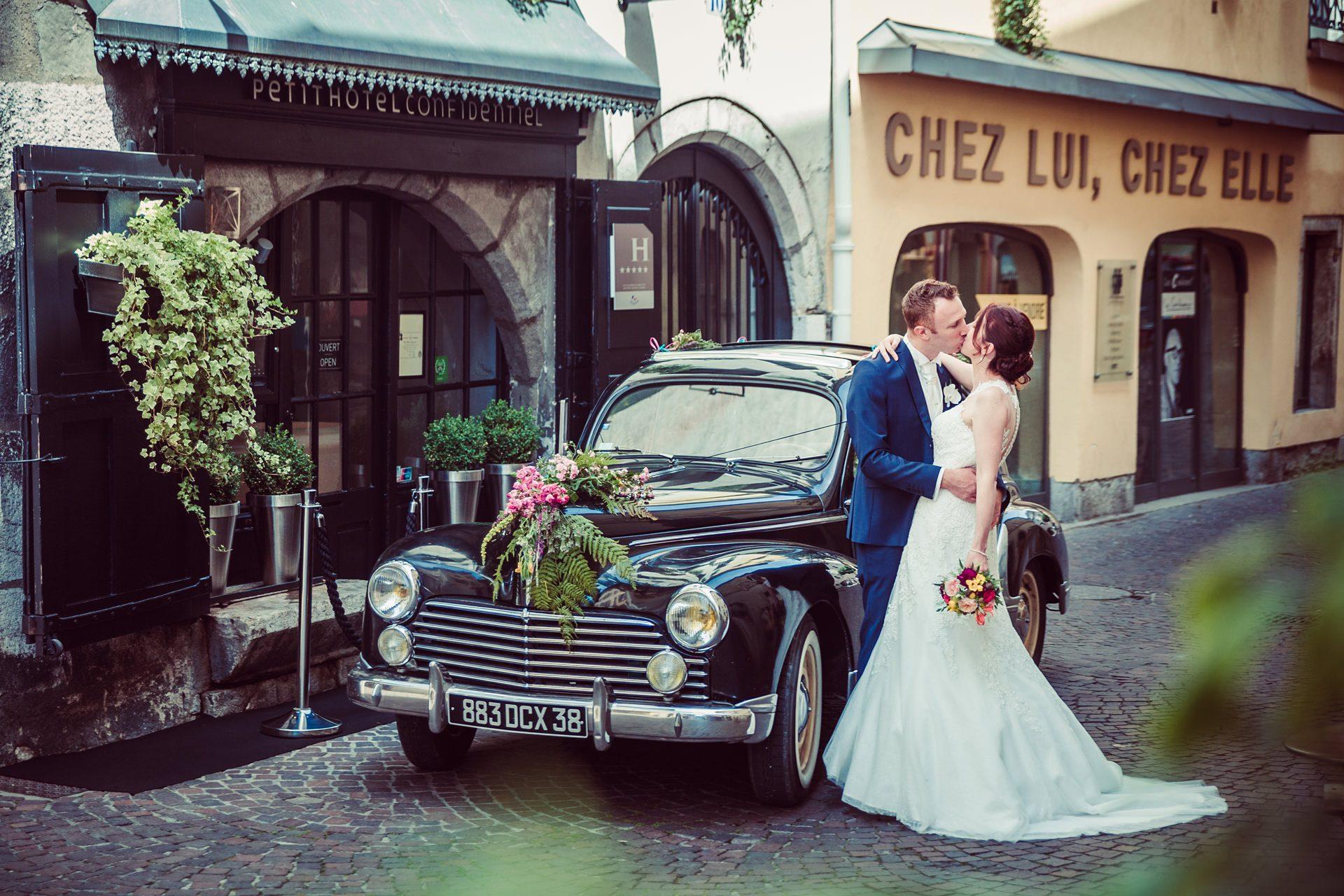 Photographe de mariage au Petit hôtel confidentiel à Chambéry