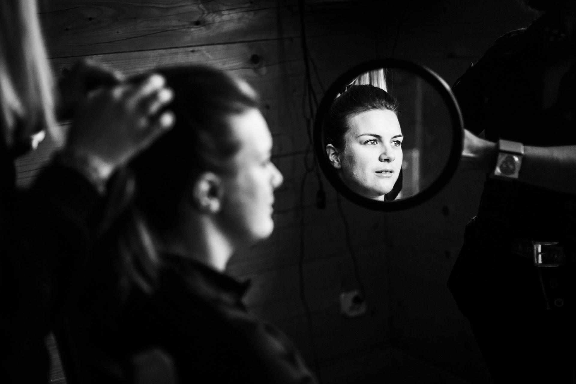 Photographe mariage noir et blanc en Savoie