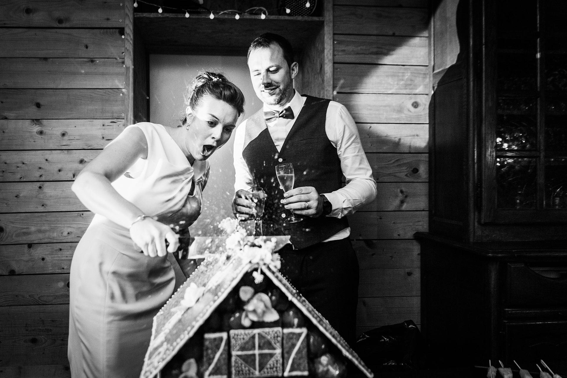Reportage photo mariage soirée gateau de mariage