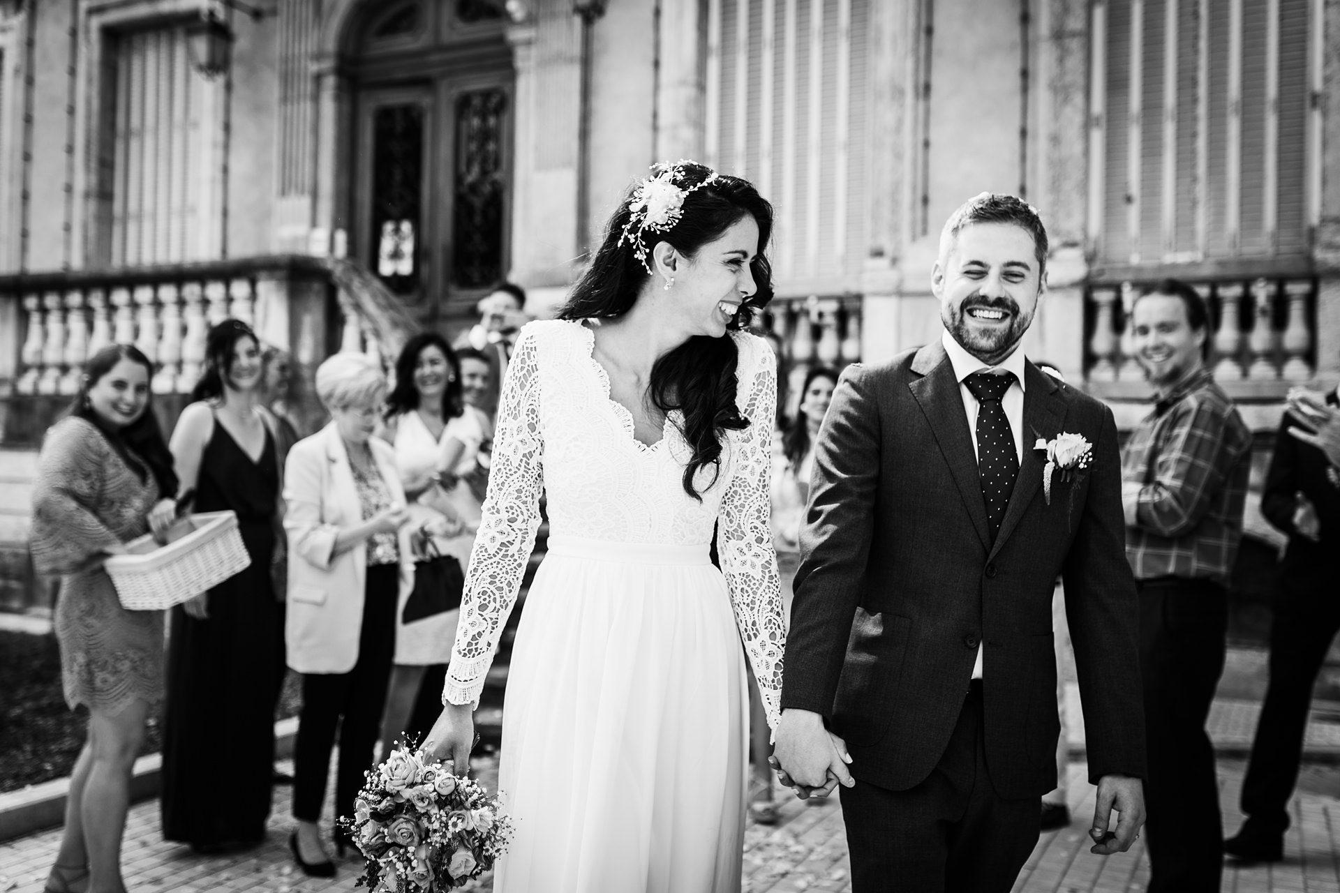 Sortie de cérémonie de mariage - Matthieu Chandelier, photographe Rhône-Alpes